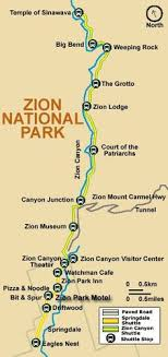 map of zion national park zion national park travel guide csite utah and transportation