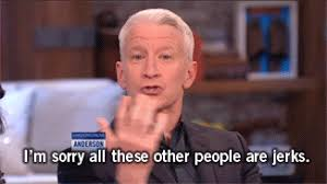 Anderson Cooper Meme - anderson cooper jerks gif find share on giphy