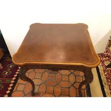 baker furniture game table baker furniture tooled leather game table chairish