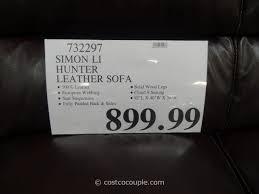 simon li leather sofa costco simon li hunter leather sofa