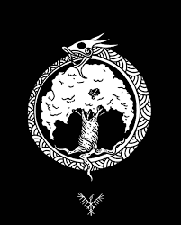 simple norse tattoo the raven from the north just a simple jormungandr and yggdrasil