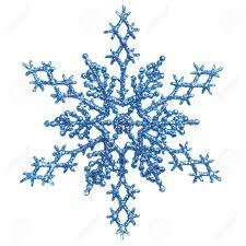 shiny blue snowflake ornament tree decoration isolated