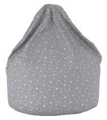 kids grey stars bean bag
