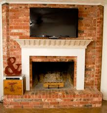 mounting tv above brick fireplace 55 trendy interior or wall mount