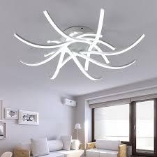 luminaires chambre moderne led cercle anneaux plafonniers pour le salon chambre