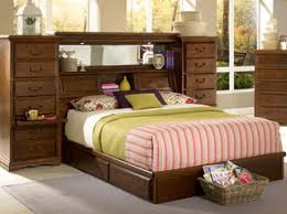 Storage Headboard King Bedroom Furniture Bedroom Set Master Piece Mid Wall American Made