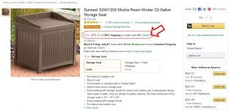 Suncast Patio Storage Bench My Experience With Suncast Resin Wicker 22 Gallon Storage Seat