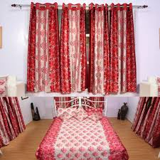 4 window curtains with 1 bedsheet set u0026 4 cushion covers cortina