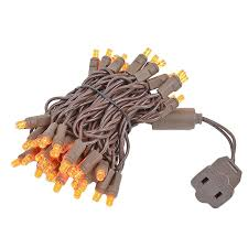brown wire wide angle orange 50 bulb led lights