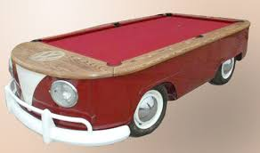 Mustang Pool Table Vw Camper Bus Recycled As Ingenious Pool Table A Mustang One Too