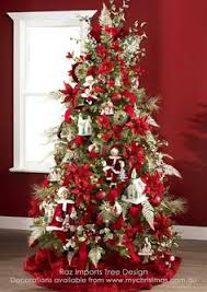 Decorated Christmas Trees by Christmas Tree With Red Decorations And White Lights Beautiful
