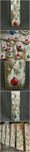reclaimed wood christmas balls paintings christmas gift idea