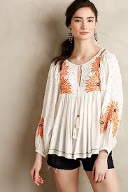 peasant blouse austral peasant blouse anthropologie