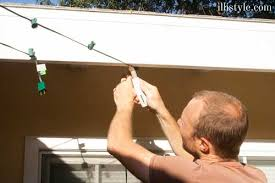 Patio Hanging Lights How To Install Cafe Lights Patio Reveal Illistyle