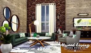 simsational designs updated atwood living lounge room set for ts4