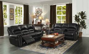 Black Reclining Sofa Homelegance Center Hill Reclining Sofa Set Black Bonded Leather