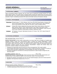 Sample Administrative Resume Resume System Administrator Resume Examples