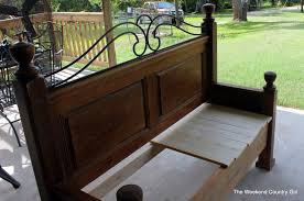astonishing bench made from headboard and footboard headboard