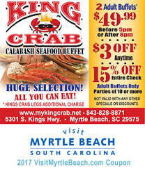 Seafood Buffets In Myrtle Beach Sc by King Crab Calabash Seafood Save On 2 Buffets