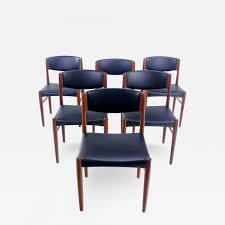 glostrup mobelfabrik set of six danish modern teak dining chairs