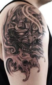 hannya mask tattoo black and grey shoulder black and grey hannya mask tattoo tattoo pinterest