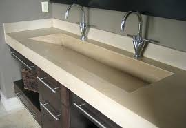 trough sink with 2 faucets bathroom sink trough bathroom trough sink the cube collection small