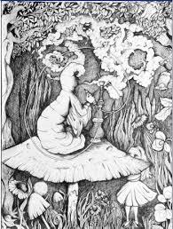 trippy ink drawing print