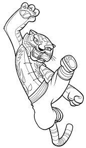 tigress jumping kick kung fu panda coloring download