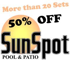 Sale Patio Furniture Sets by Sunspot Pool U0026 Patio 50 Off Select In Stock Patio Furniture