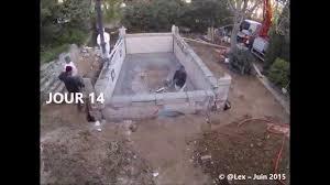 petite piscine enterree time lapse construction piscine béton youtube