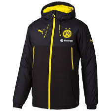 Bench Padded Jacket Puma Borussia Dortmund Bench Jacket Black Cyber Yellow