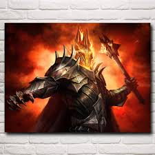 Lord Of The Rings Decor Morgoth The Lord Of The Rings J R R Tolkien Movie Art Silk