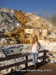 montana vacation visiting mammoth springs in