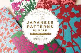 12 best japanese patterns bundle patterns creative market