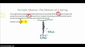 periodic motion the motion of a spring youtube