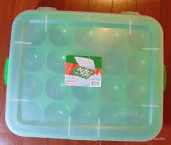 stackable sterilite holiday ornament storage container case