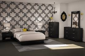 black and white bedroom ideas for small rooms simply provide the main lighting in the form of bright white lights and bedside yellow lamps for complete black and white bedroom ideas