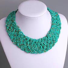 seed bead necklace clasp images Pure handmade multi strand seed bead gothic choker bib chunky jpg
