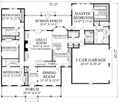House Plans With Screened Porch Country Style House Plan 4 Beds 3 50 Baths 2533 Sq Ft Plan 137 296