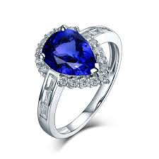 tanzanite wedding rings gemstone jewelry 14kt white gold aaa tanzanite