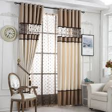 Blackout Curtains For Bedroom Byetee European Design Luxury Stitching Embroidery Yarns Blackout
