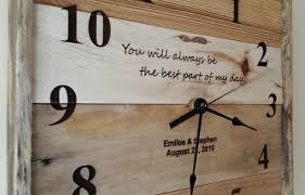 personalized wedding clocks personalized wall clock wedding gift laser engraved custom