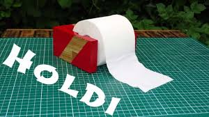easy diy toilet paper holder free plan youtube