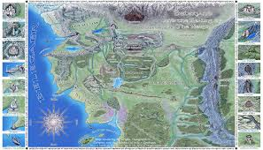Map Of Mordor Beleriand And Realms Of The North By Sirielle On Deviantart