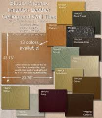 faux leather wall tiles for the home pinterest studios the