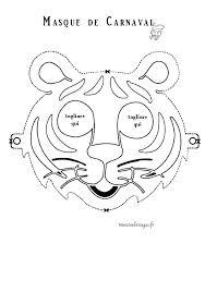 masque tigre coloriage activités pinterest masque coloriage