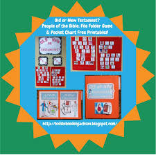 bible fun for kids bible people pocket chart and file folder game