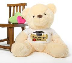 personalized graduation teddy smiley chubs 38 personalized graduation teddy