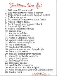 tradition idea list this for when the are out of school
