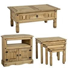 buy corona mexican coffee table nest of 3 tables and corner tv
